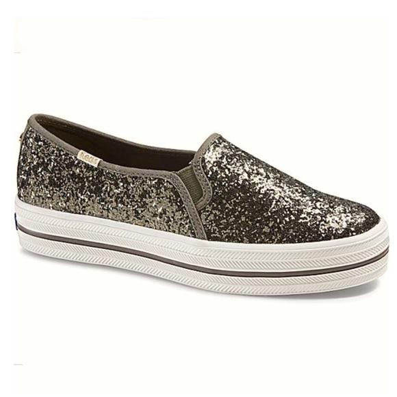 832d745704de Keds Shoes   Kate Spade X Olive Green Glitter Sneakers 7   Poshmark